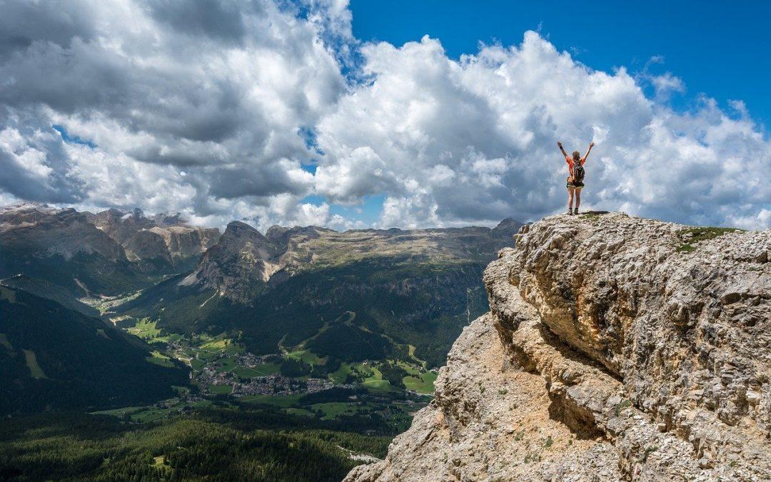 Manifest woman on mountain
